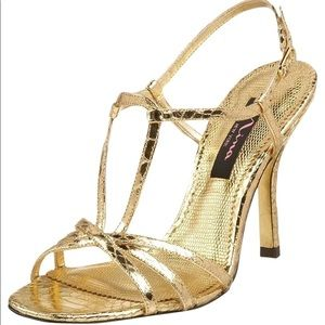 🆕 NINA Women's Ulphia T-Strap Sandals in Gold